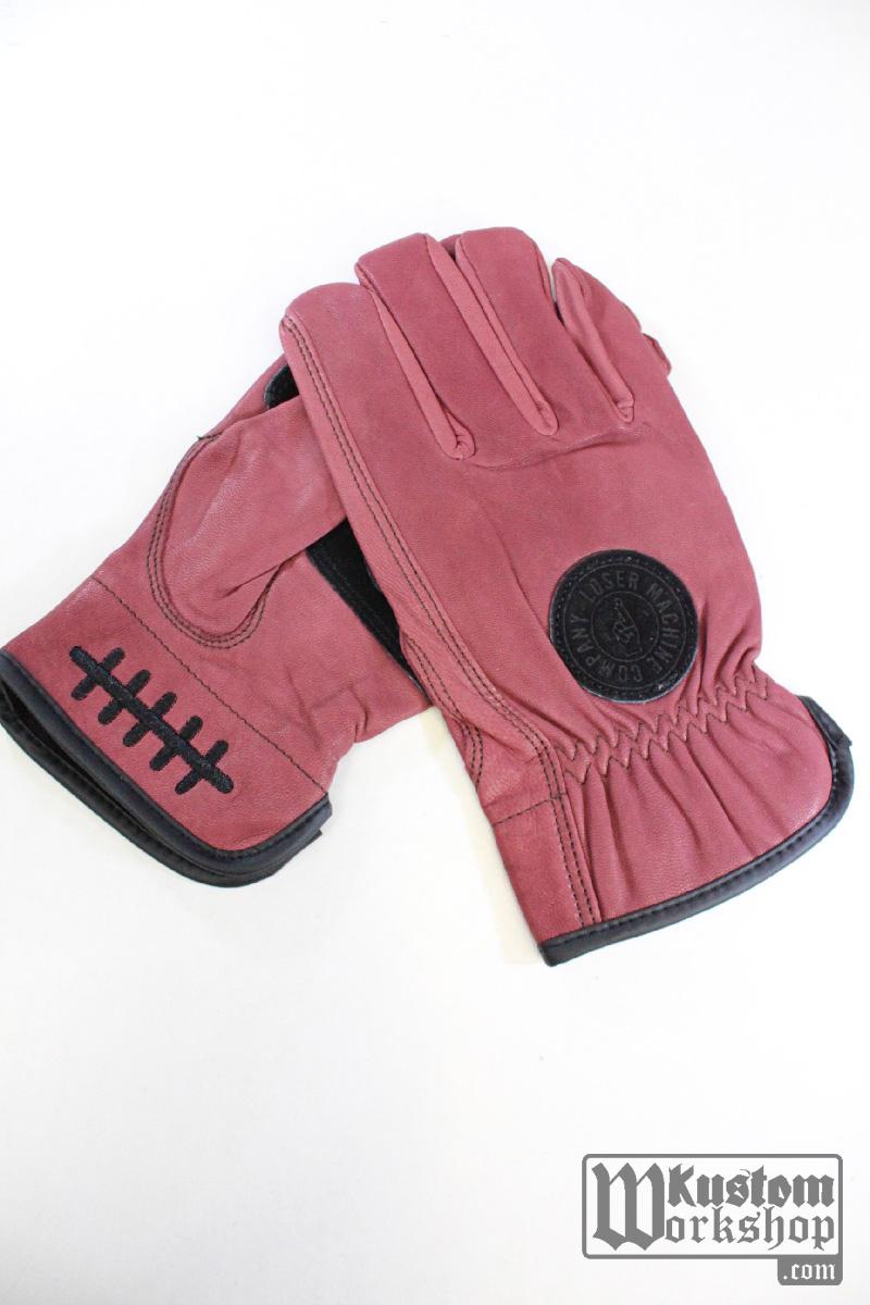 gants moto bordeaux