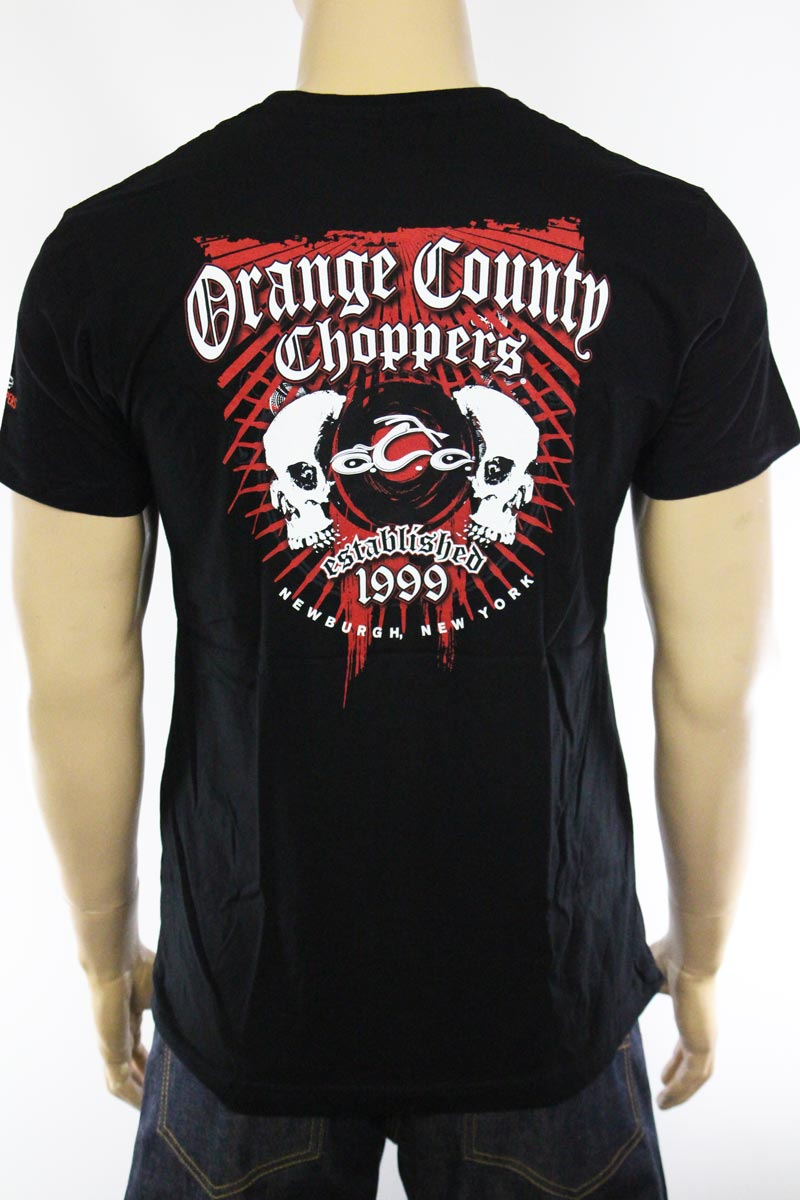 T-shirt Orange County Choppers Two Skulls