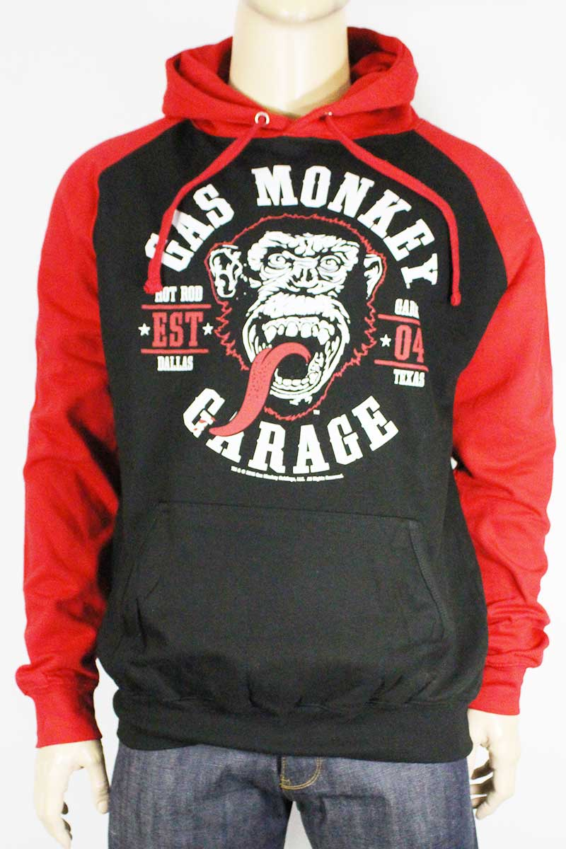 Sweat a capuche Gas Monkey Garage Patch rouge et noir