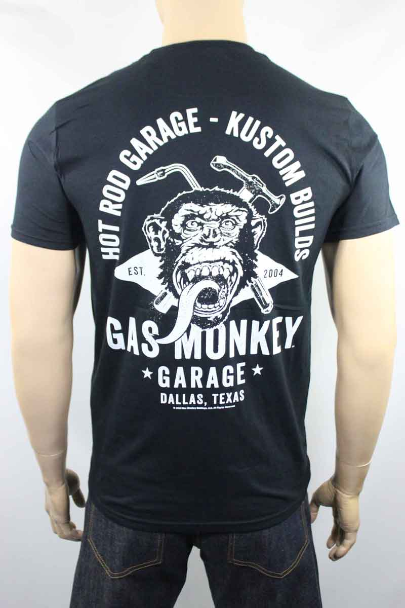 T-shirt Gas Monkey Garage torch and hammer