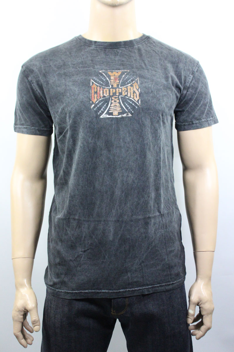 T-shirt West Coast Choppers Web Cross Vintage