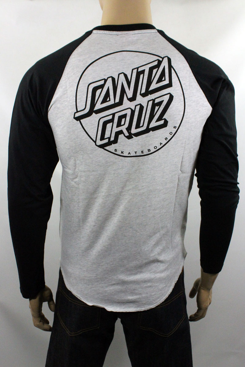 T-shirt Santa Cruz Baseball Cut and Sew Opus Dot