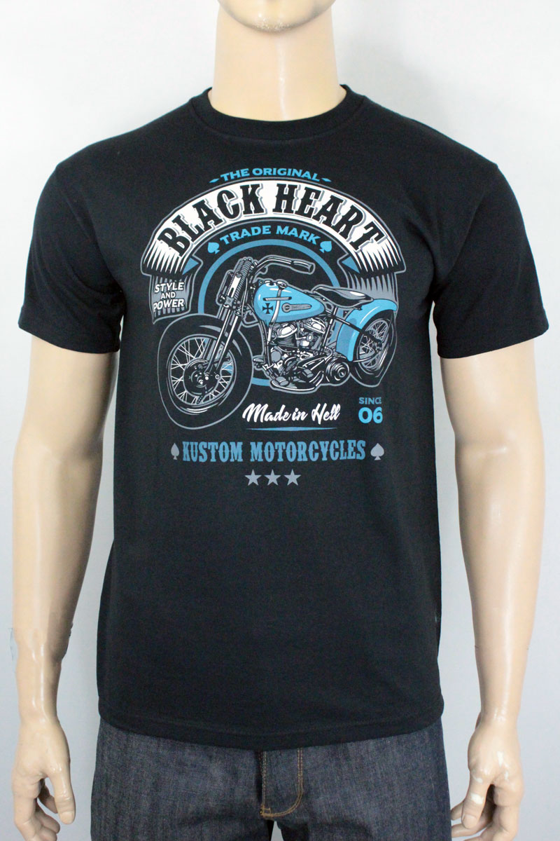 T-shirt Black heart style and power