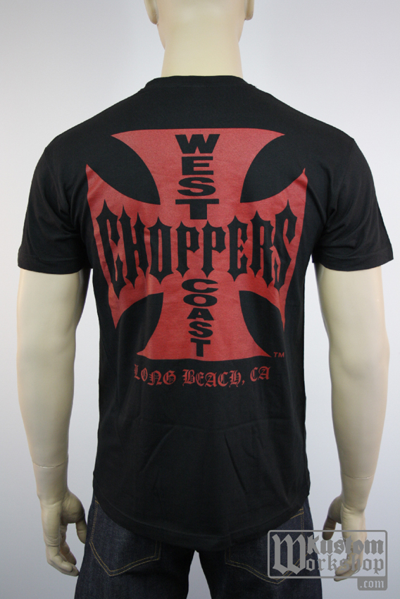T-shirt  West Coast Choppers original black and red