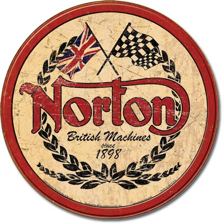 Tin sign Norton logo