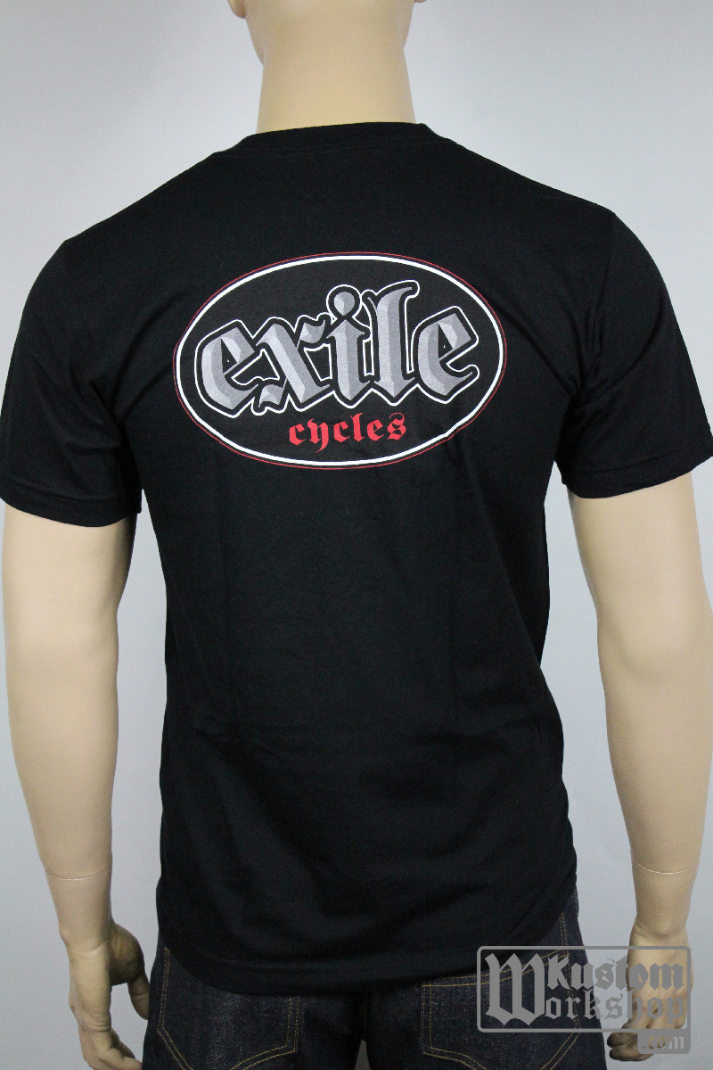 T-shirt Exile Cycles logo noir