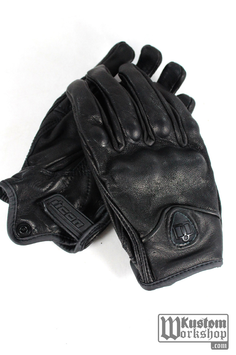 Gants Icon Pursuit noirs