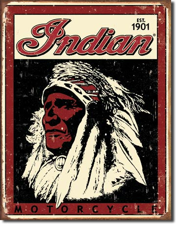 Tin sign Indian Motorcycles