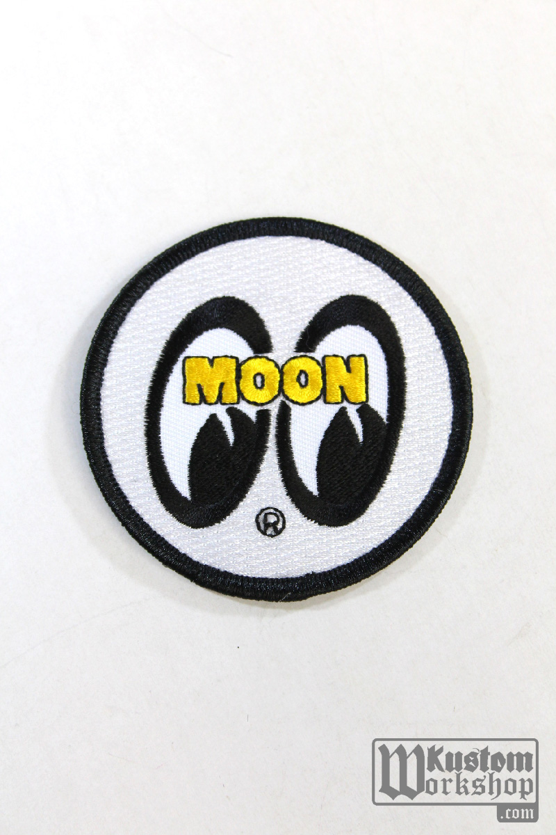 Patch Mooneyes original logo blanc