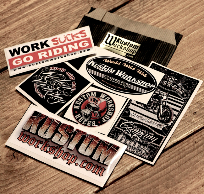 Pochette de stickers Kustom Workshop