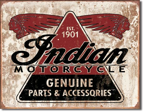 Tin sign Indian Motorcycles Parts