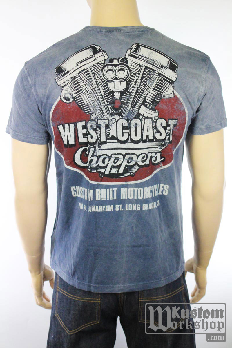 T-shirt West Coast Choppers Panhead