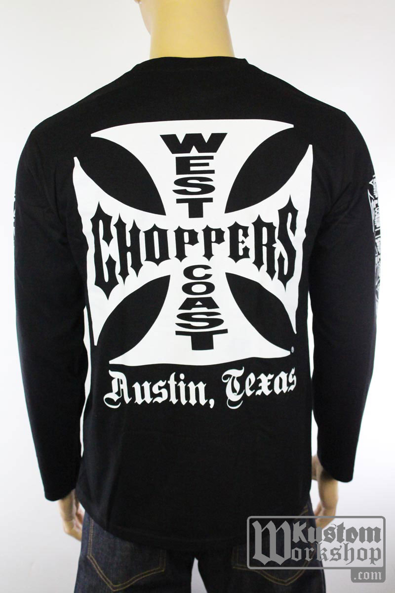 T-shirt manches longues West Coast Choppers OG Cross