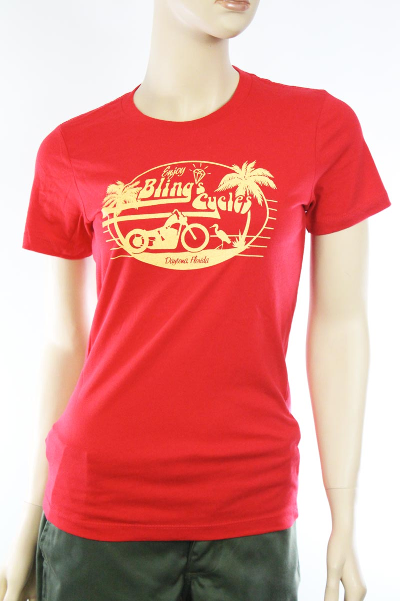 T-shirt femme Bling's Cycles So Daytona