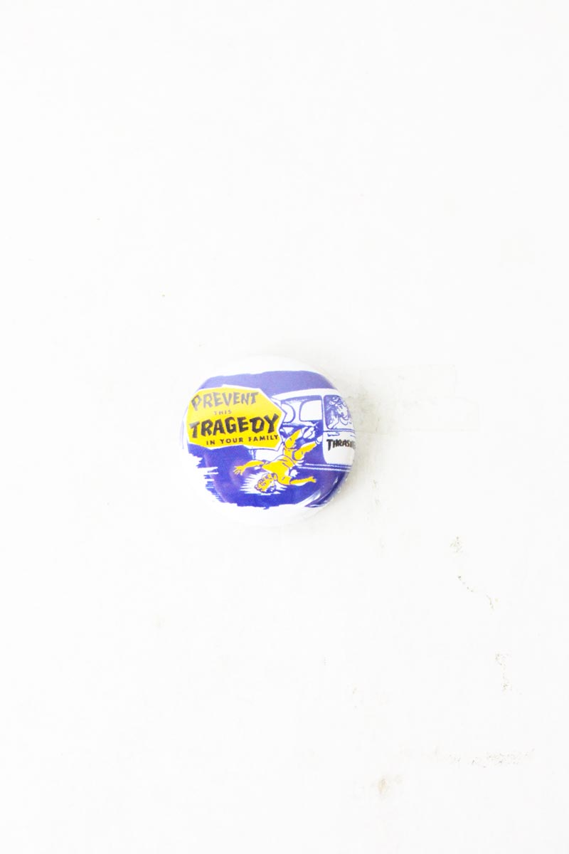 Badge Thrasher Magazine Prevent blue