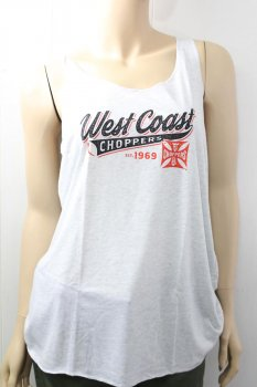 Débardeur West Coast Choppers Femme Bridge Baseball white
