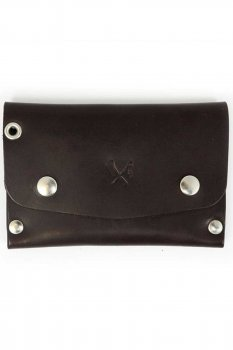 Rusty Butcher dropout wallet marron