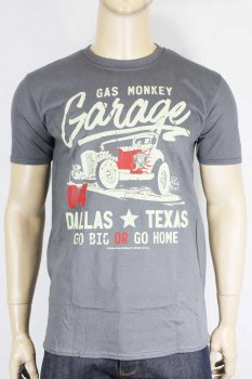 T-shirt Gas Monkey Garage Go big or Go home gris