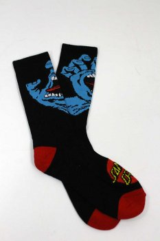 Chaussettes Santa Cruz Screaming Hand noires
