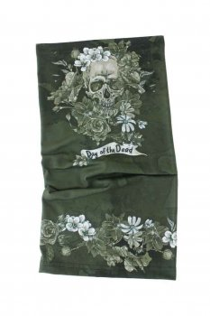 Tour de cou Belle Lurette et Cie Day of the dead khaki