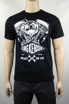 T-shirt King Kerosin No race No life