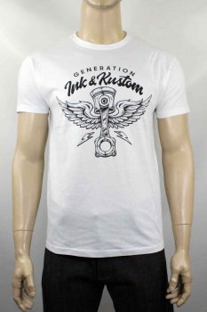 T-shirt Génération Ink and Kustom Piston Wings