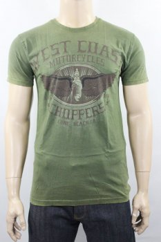 T-shirt West Coast Choppers Wings Logo Green