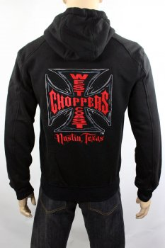 Sweat-shirt zippé West Coast Choppers web cross