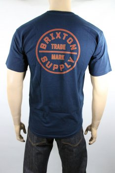 T-shirt Brixton Oath standart navy red