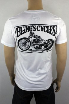 T-shirt Bling's Cycles white Knuckle