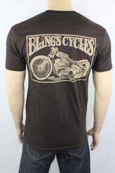 T-shirt Bling's Cycles Brown Knuckle