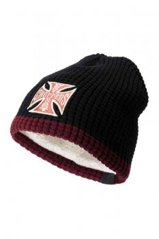 Bonnet West Coast Choppers Knitted cross Beanie bordeau