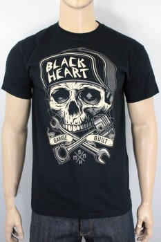 T-shirt Black heart garage built