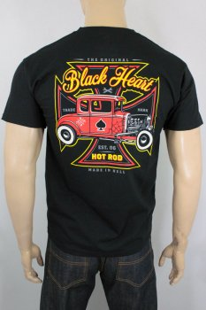 T-shirt Black heart red baron coupé