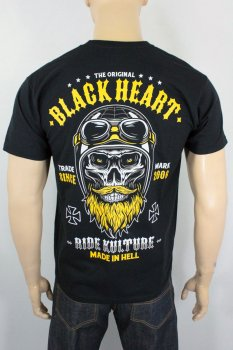 T-shirt Black heart whiskery
