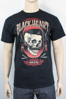 T-shirt Black heart Barberbilly boy