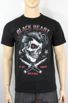 T-shirt Black heart deny boy