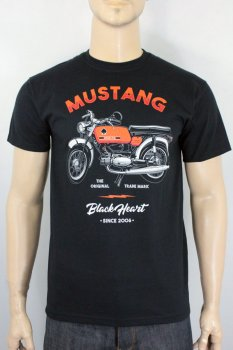 T-shirt Black heart mustang