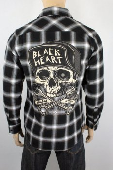 chemise Black heart garage built