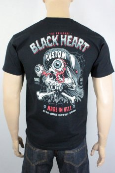 T-shirt Black heart full punk