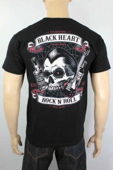 T-shirt Black heart beer and whiskey