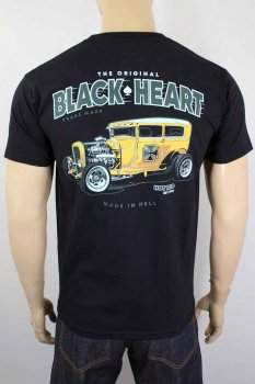 T-shirt Black heart yellow boy hot road