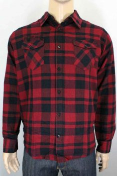 Chemise West Coast Choppers La bomba Herringbone flannel rouge
