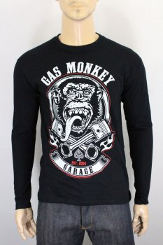 T-shirt Gas Monkey Garage Piston & flames