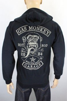 Sweat zippé Gas Monkey Garage Patch noir