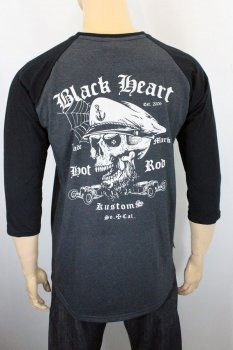 T-shirt Black heart mis long so.cal raglan