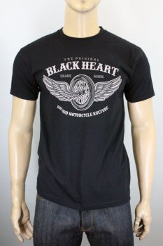 T-shirt Black heart Wings