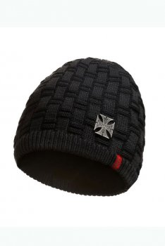 Bonnet West Coast Choppers Metal Batch Beanie black