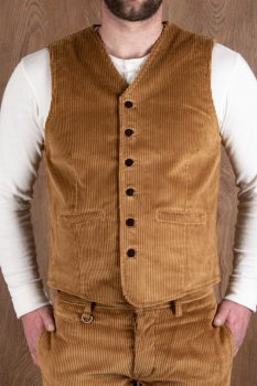 Veste Pike Brother 1905 Hauler Vest Goliath Cord Mustard