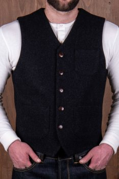 Pike Brother 1937 roamer vest beaver black